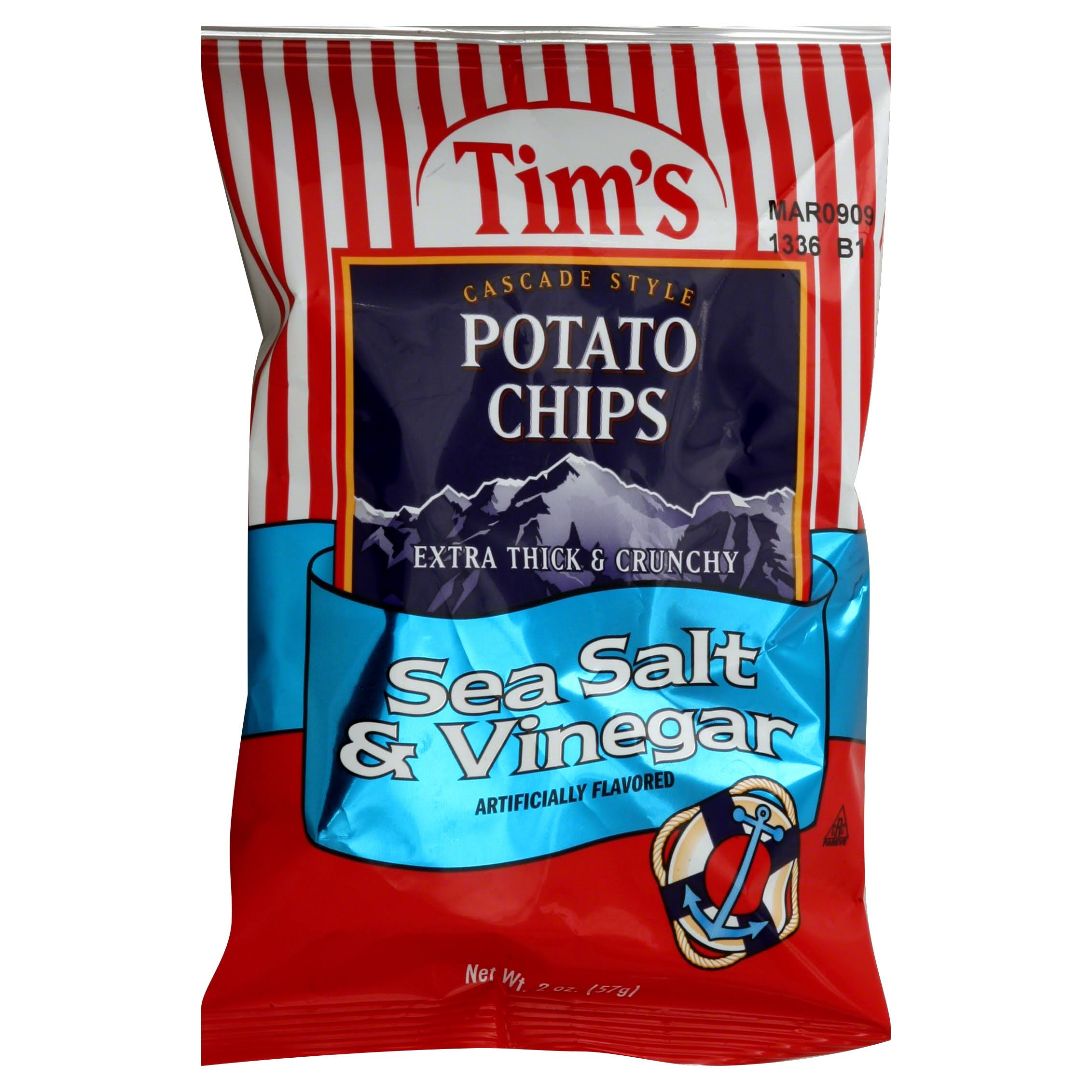 Tim's Cascade Style Potato Chips - Sea Salt & Vinegar
