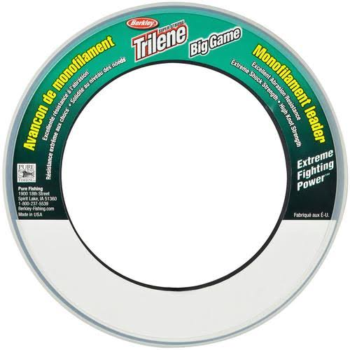 Berkley Trilene Big Game Monofilament Leader Wheel(40-Pound,Clear)