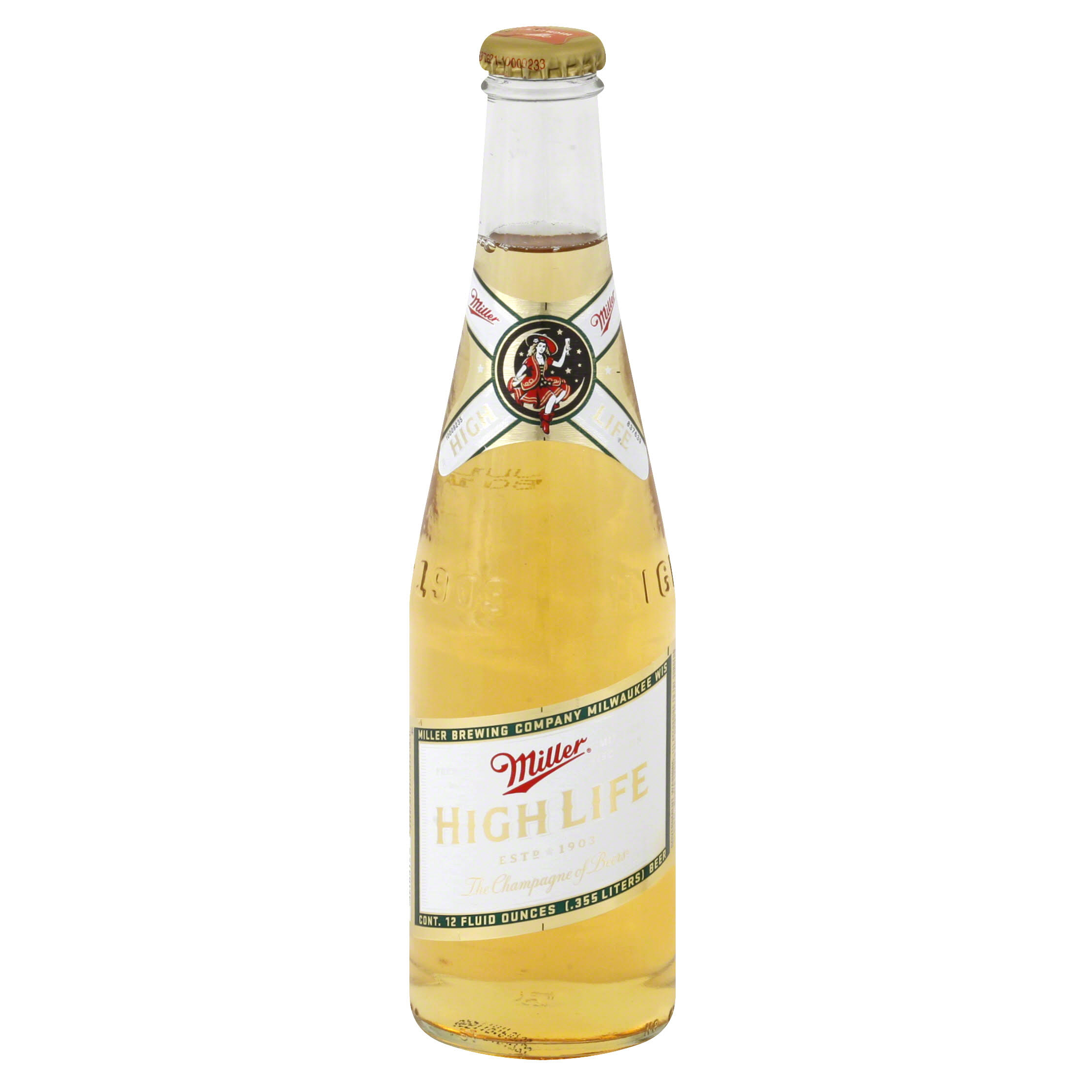 Miller High Life Beer - 12 oz