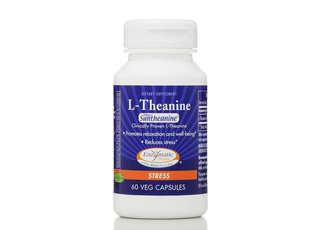 Enzymatic Therapy L Theanine Dietary Supplement - 60 Capsules