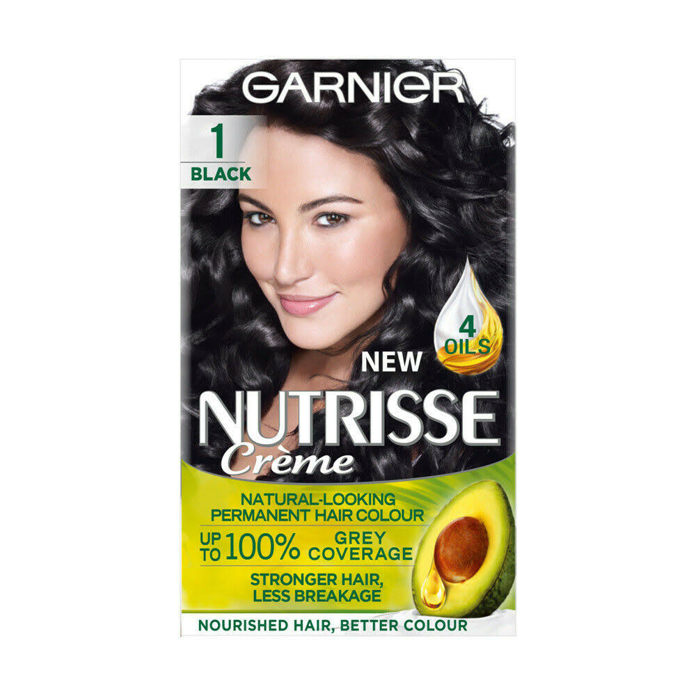 Garnier Nutrisse Permanent Hair Dye - 1 Black