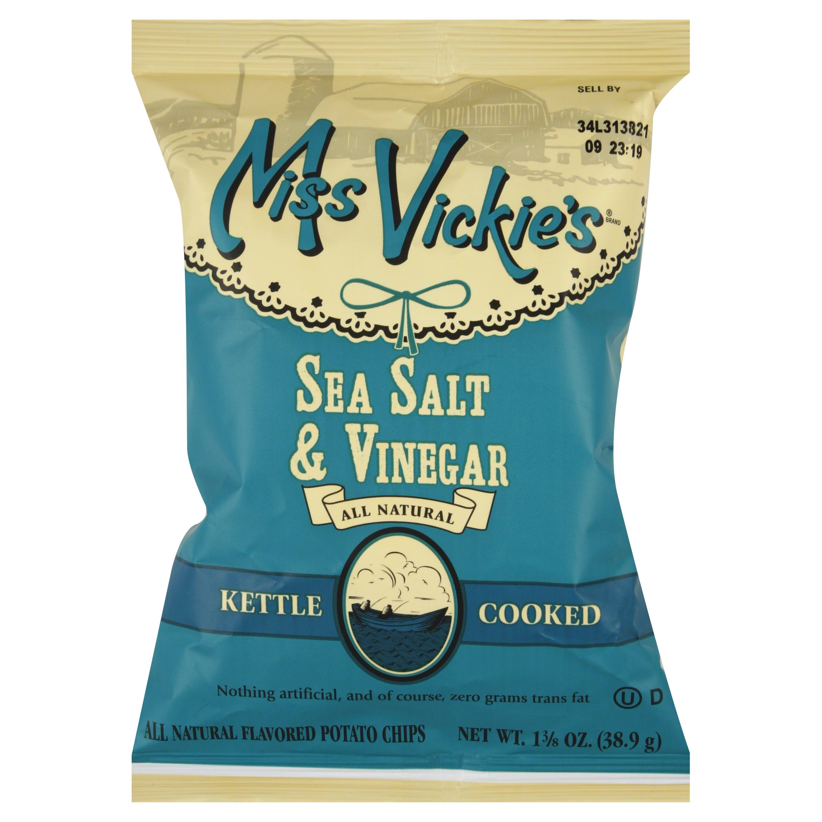 Miss Vickie's Kettle Cooked Potato Chips - Sea Salt & Vinegar, 1.375oz