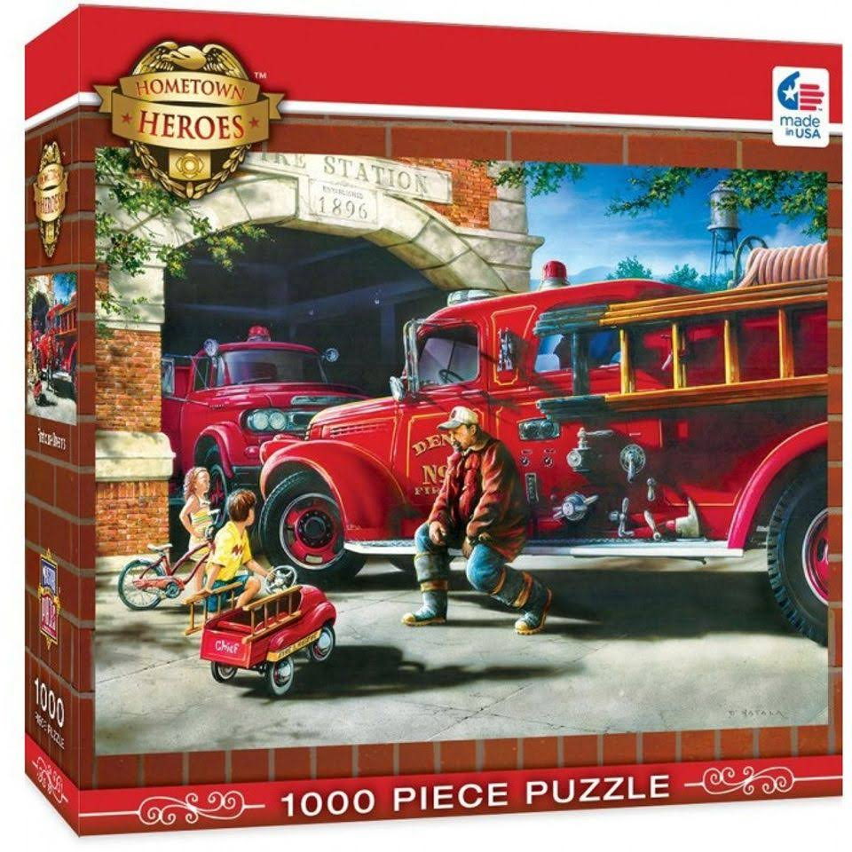 Master Pieces Hometown Heroes Firehouse Dreams Jigsaw Puzzle - 1000pcs