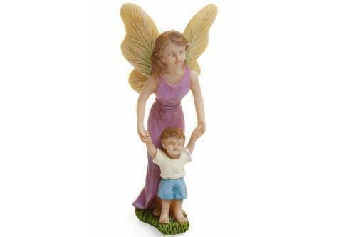 Marshall Home and Garden Miniature Dollhouse Fairy Garden First Steps Mother & Son Figurine