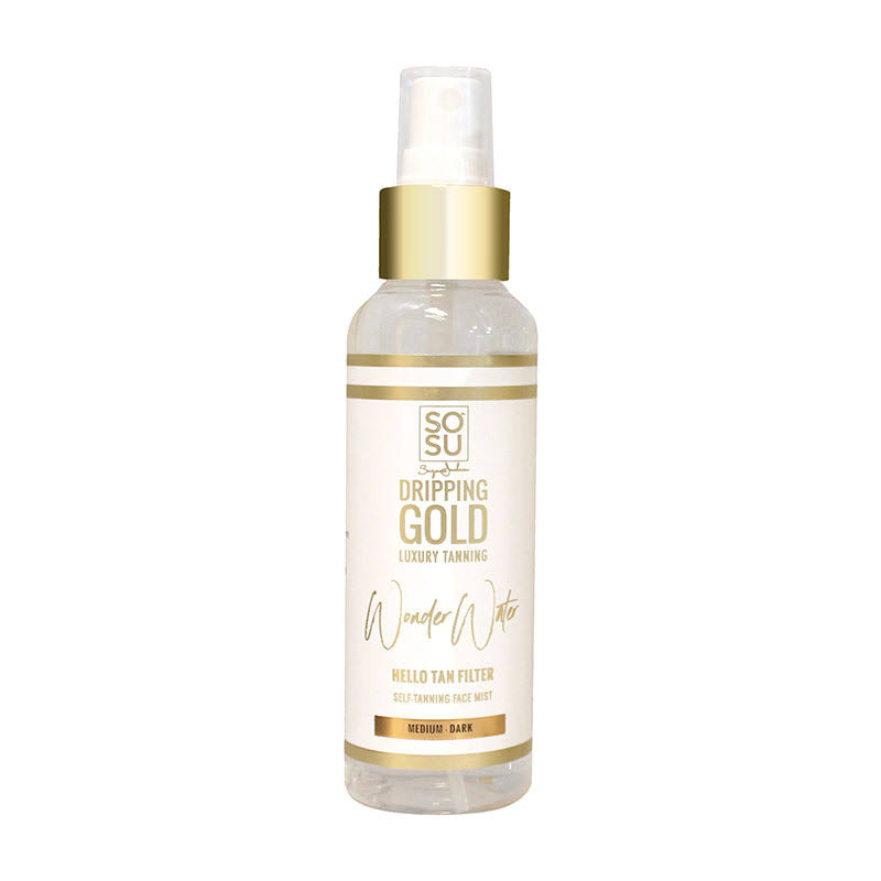 SOSU by Suzanne Jackson Dripping Gold Wonder Water Self Tanning Facial Mist Medium Dark