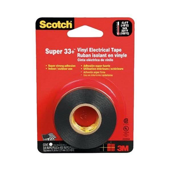 "Scotch Super 33+ Electrical Tape - 3/4""x450"""