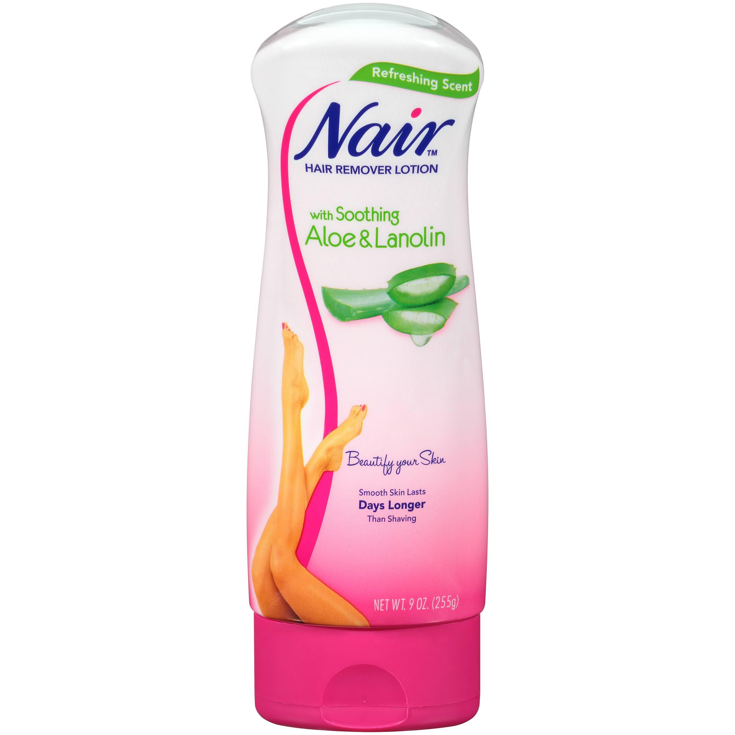 Nair Hair Remover Lotion - with Soothing Aloe and Lanolin, 9oz