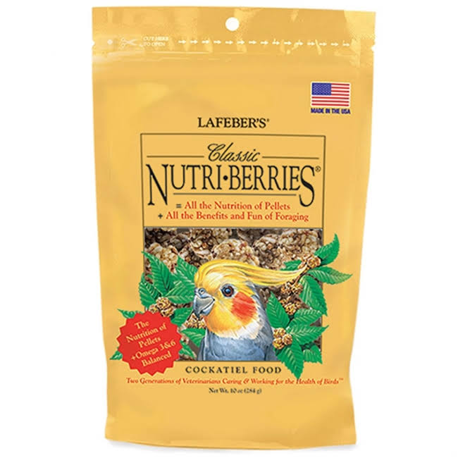 Lafeber Classic Nutri-Berries - Cockatiel Food 10 oz