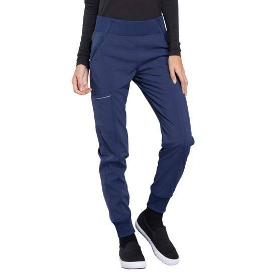 Cherokee CK110A Mid Rise Tapered Leg Jogger Pant - Navy - M