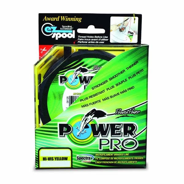 Power Pro Spectra Hi-Vis Yellow Braided Line 80 Pound / 500 Yards