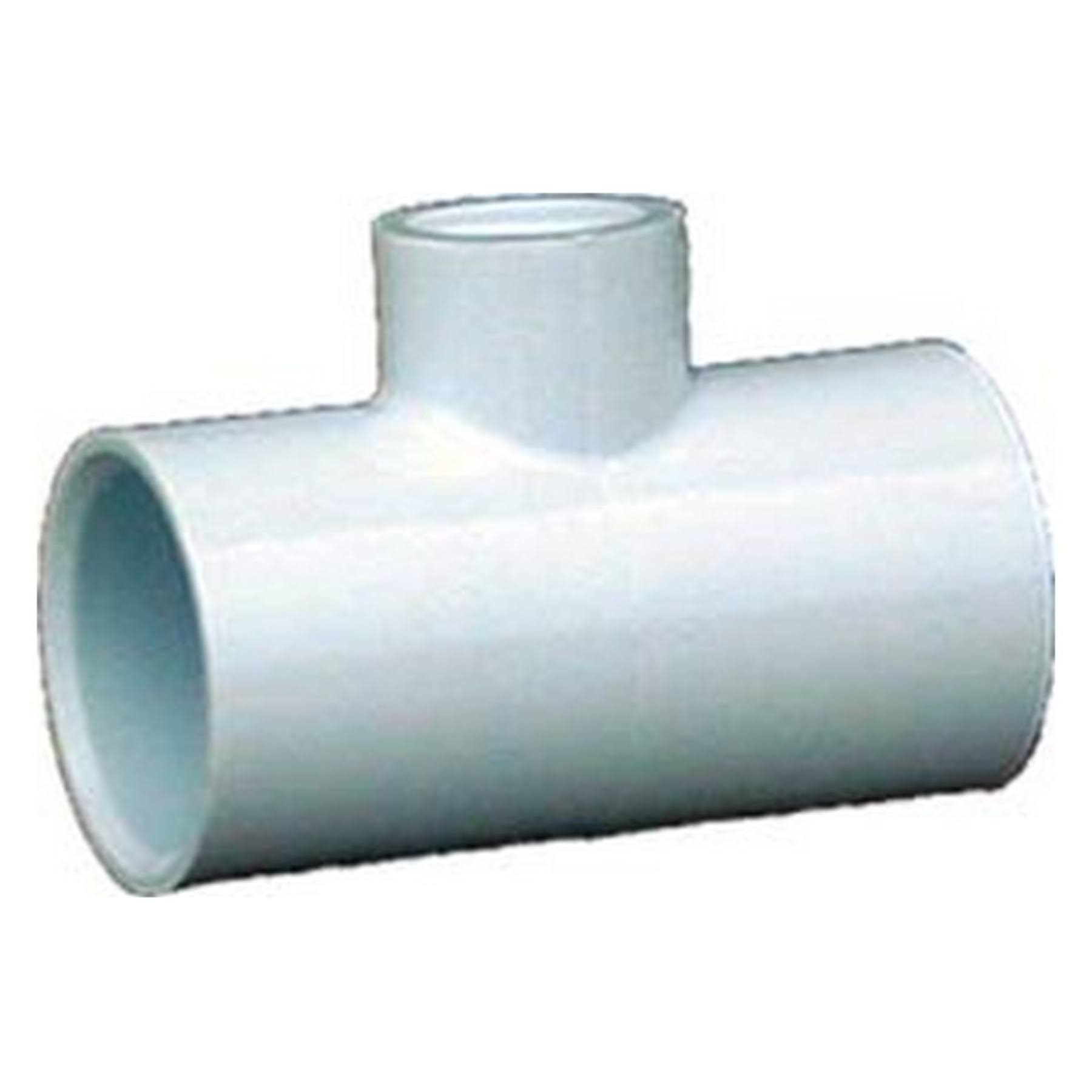 "Genova Schedule 40 Pressure Solvent X Threaded Tee - 1"" x 1/2"""