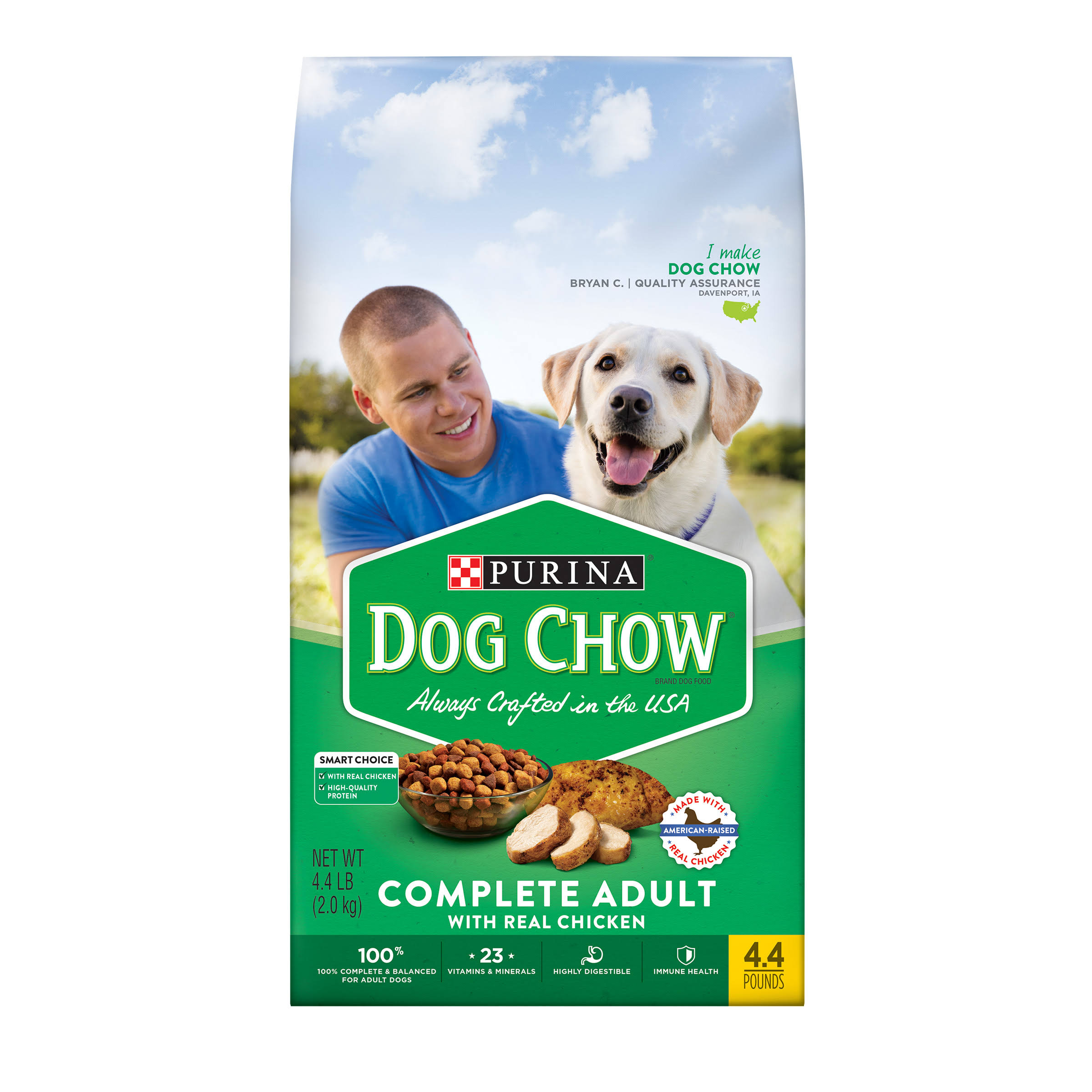 Purina Dog Chow Complete Adult Dog Food - 4.4 lb, Chicken Flavor
