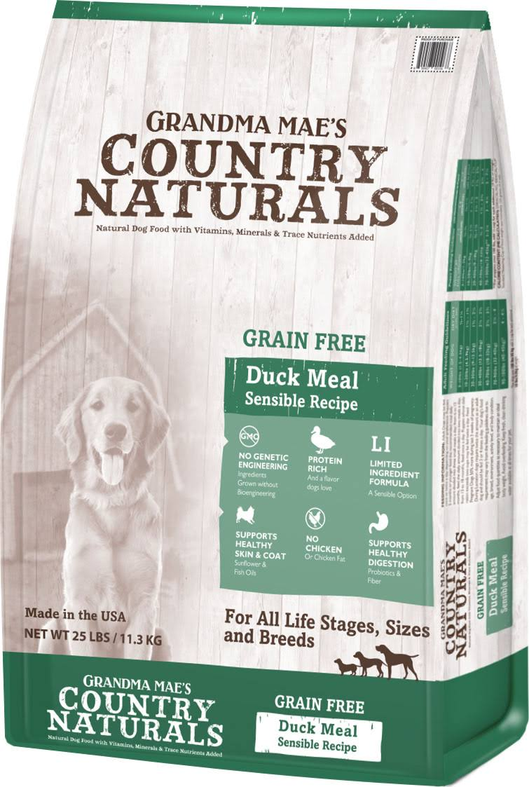 Grandma Mae S Country Nat Country Naturals Grain Free Limited Ingredient Dog Duck 14 lb