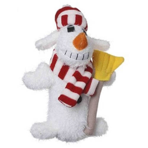 Multipet Loofa Snowman Plush Holiday Dog Toy - 12""