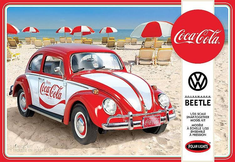 Polar Lights Volkswagen Beetle Coca-Cola Plastic Model Kit - 1/24 Scale