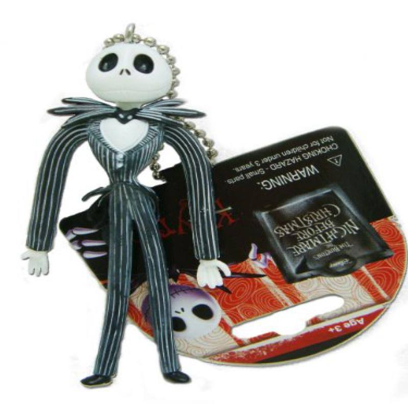 Disney Nightmare Before Xmas Jack Bendable Keychain