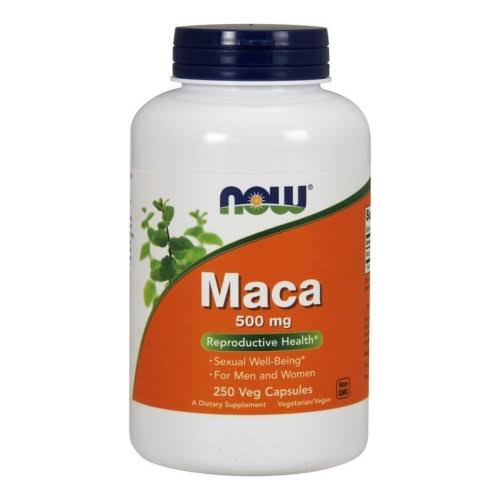 Now Maca Reproductive Health Dietary Supplement Capsules - 500mg, 250ct