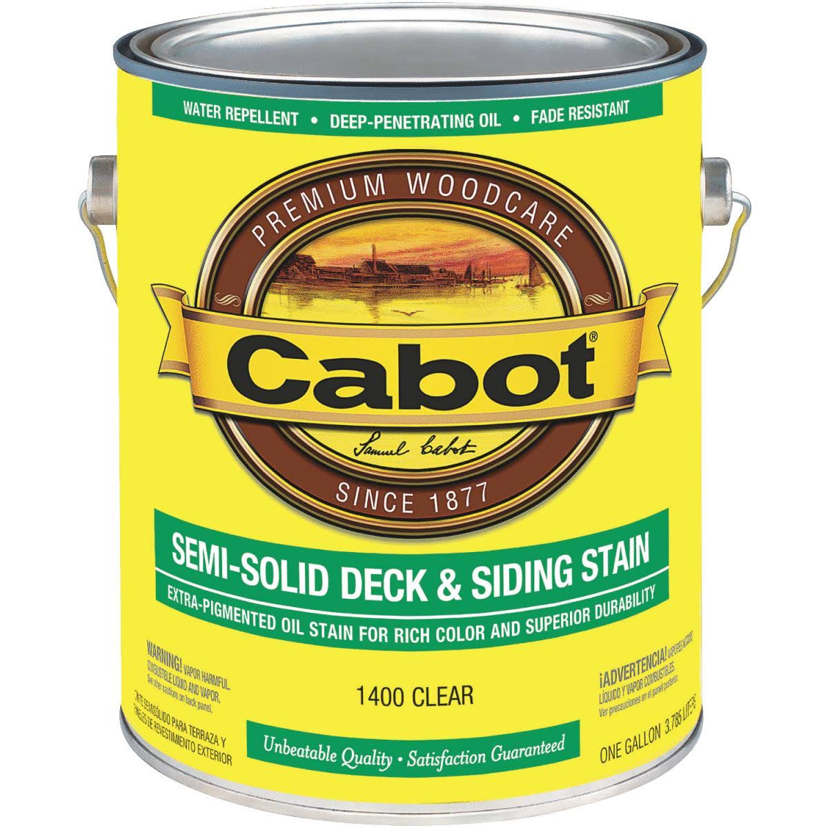 Cabot Semi-Solid Deck and Siding Stain - Clear, 1 Gallon
