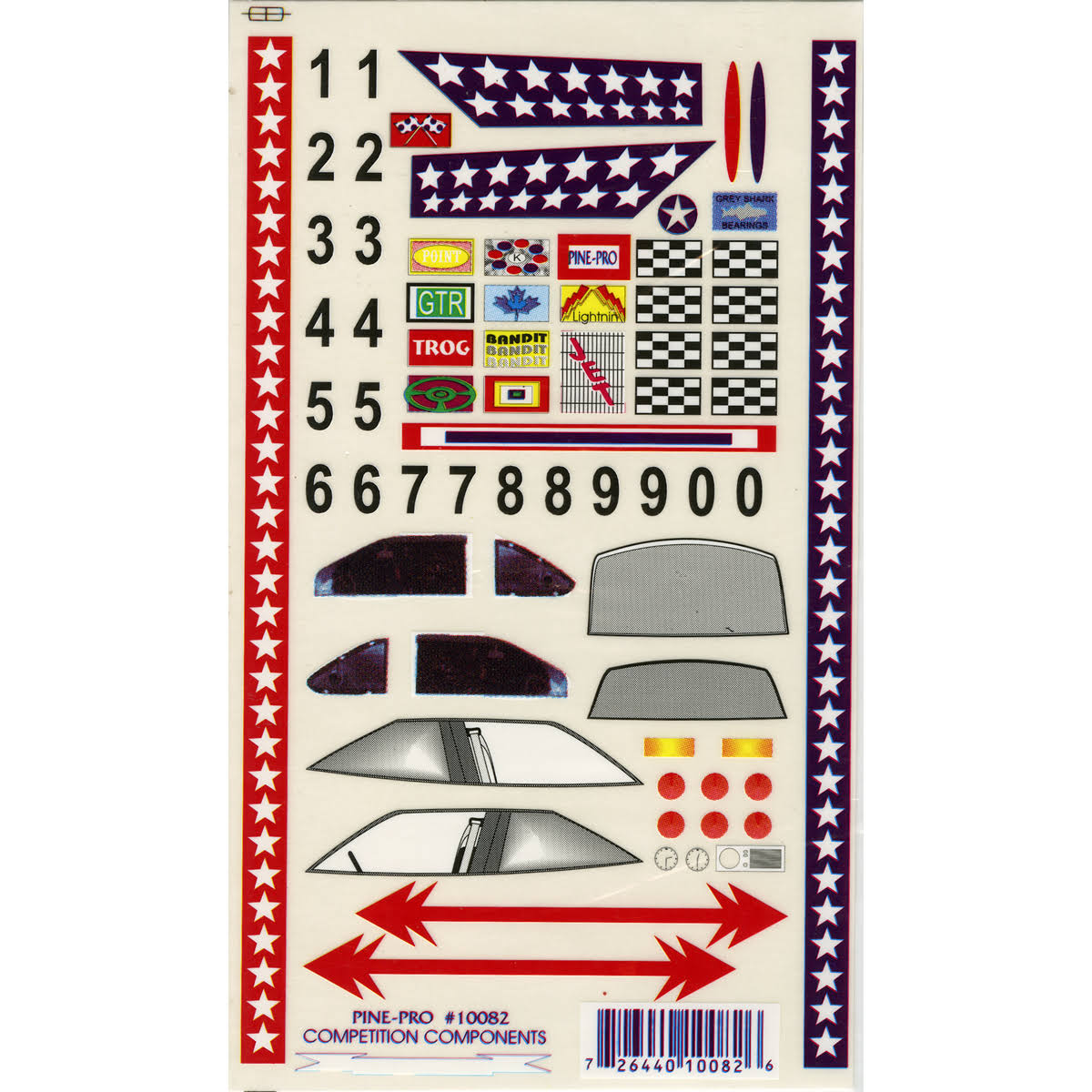"Pine-Pro Pine Car Derby Super Stock with Number Set Decal - 5"" x 8"""