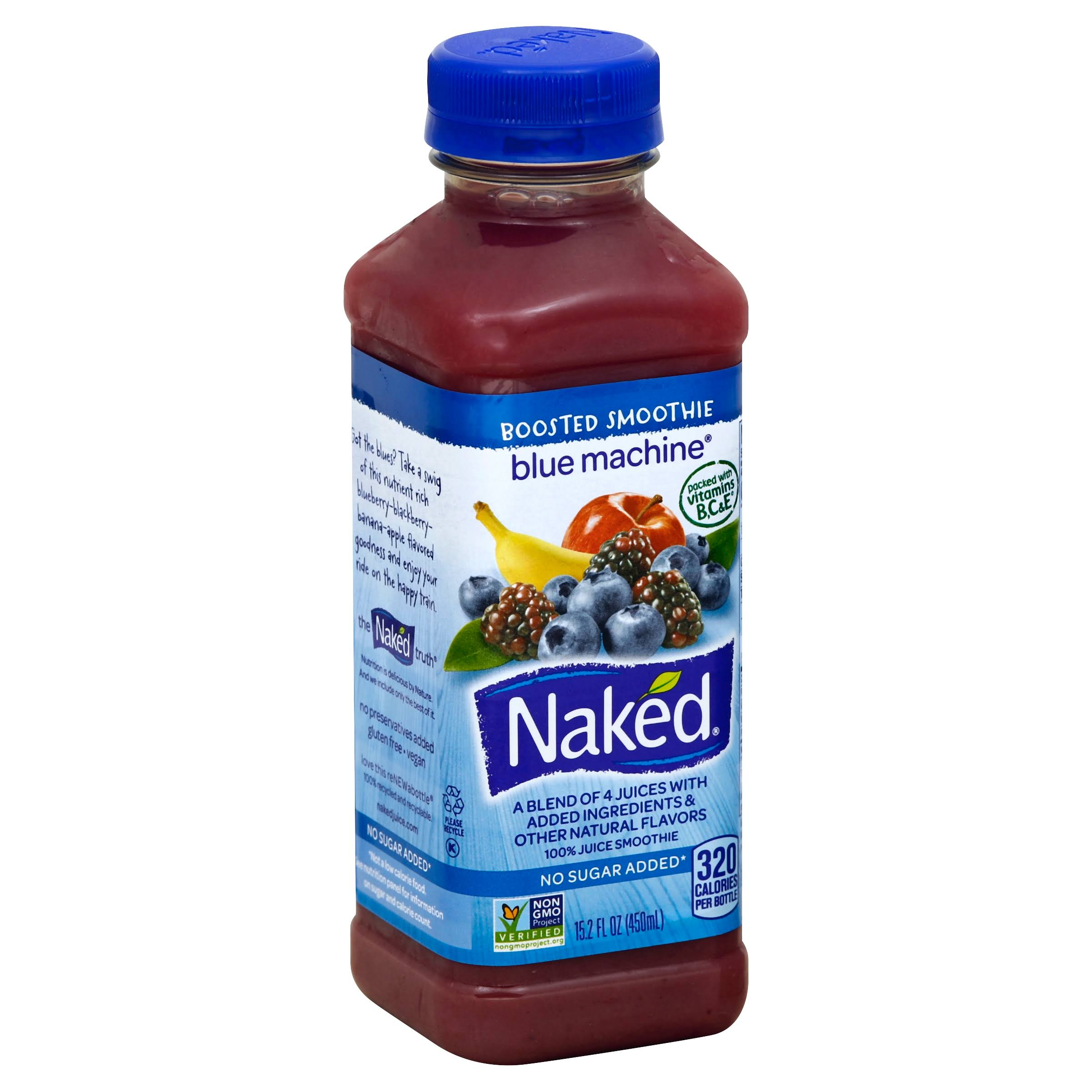 Naked Blue Machine 100% Juice Smoothie - 15.2 fl oz