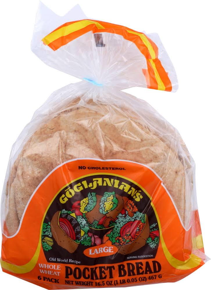Gogi Anians RICHS: Bread Pita LRG Wheat (16.500 oz)