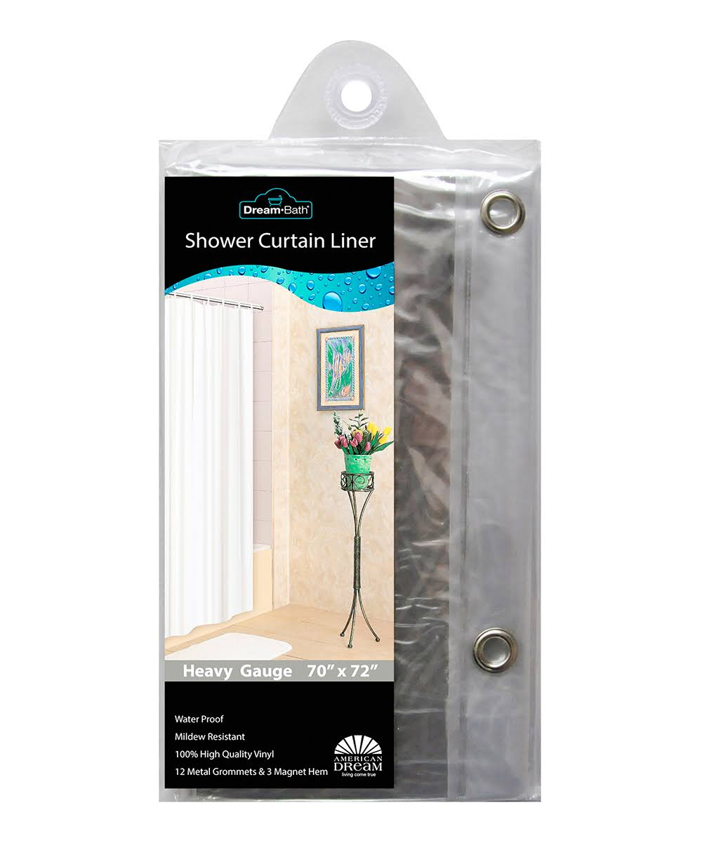 American Dream Home Goods Curtain AD371-CL Shower Liner, Clear