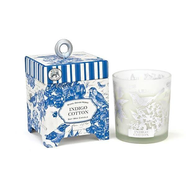 Michel Design Works Candle - Indigo Cotton, 6.5oz