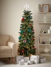7ft Black Pencil Christmas Tree by 6ft Slim Christmas Tree M U0026s