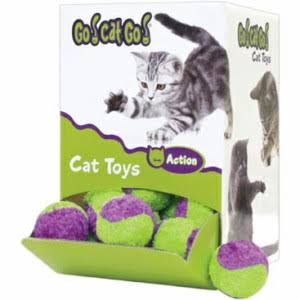 Fuzzy Tennis Ball for Cats