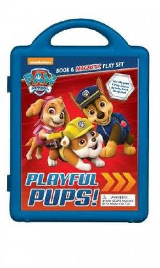 PAW Patrol Playful Pups! Book & Magnetic Playset