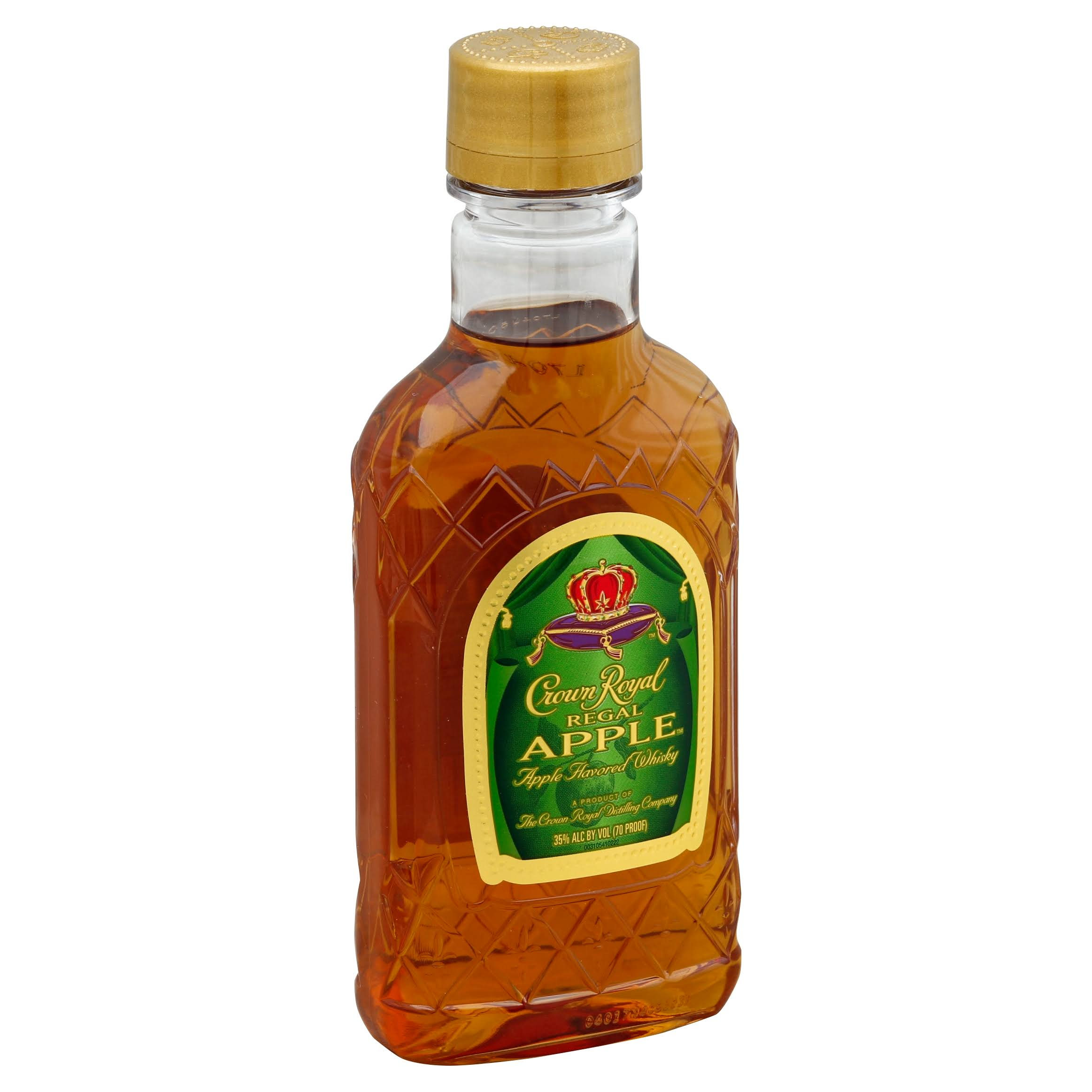 Crown Royal Whisky, Apple Flavored, Regal Apple - 200 ml