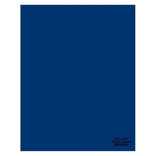 Norcom 79874-25 22 x 28 in. Poster Board, Blue - Pack of 25