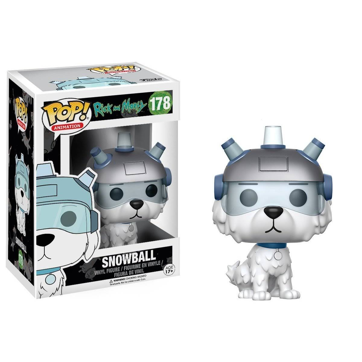 Funko 178 Pop Animation Rick and Morty Vinyl Figure - Snowball