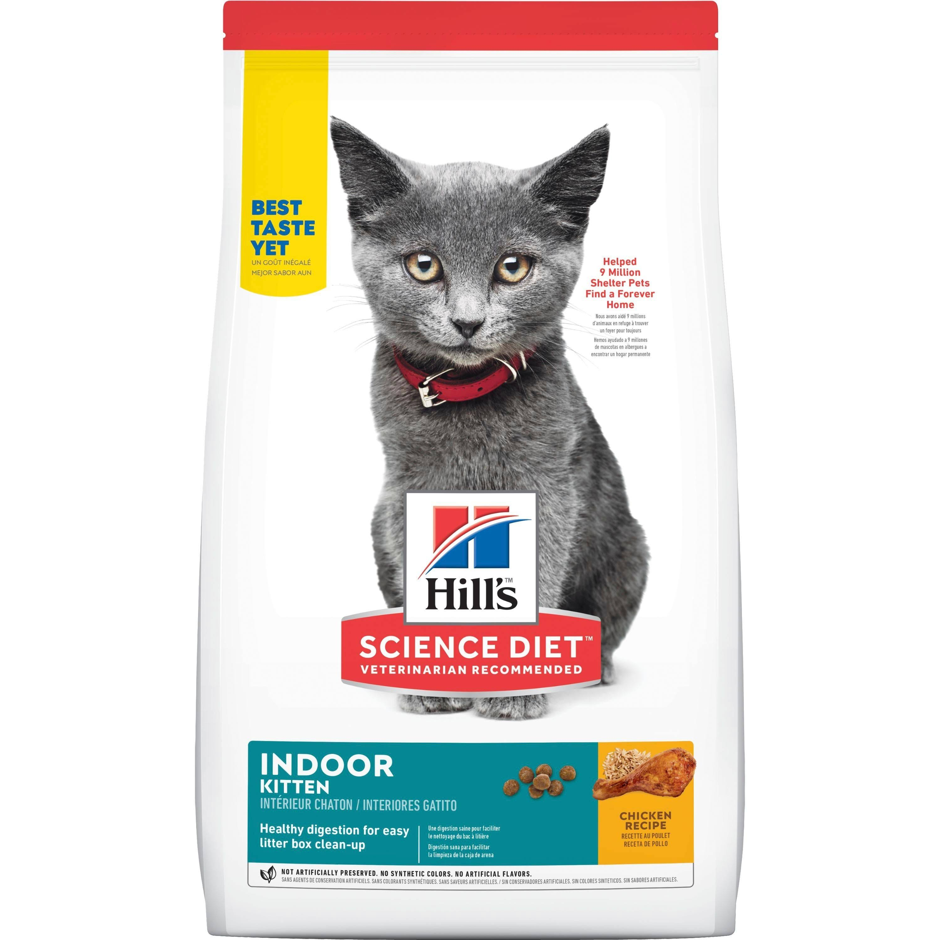 Hill's Science Diet Kitten Indoor Premium Natural Cat Food - Chicken Recipe, 7lb