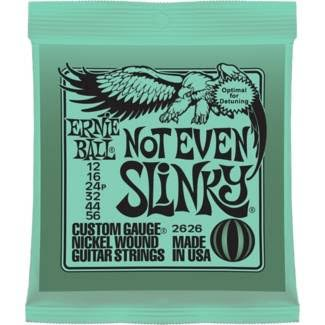 Ernie Ball Not Even Slinky Custom Gauge Nickel Wound Guitar Strings - 2626, .012 - .056