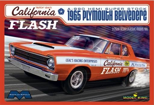Moebius 1/25 Scale 1965 Plymouth Belvedere California Flash A990 Hemi Super Stock