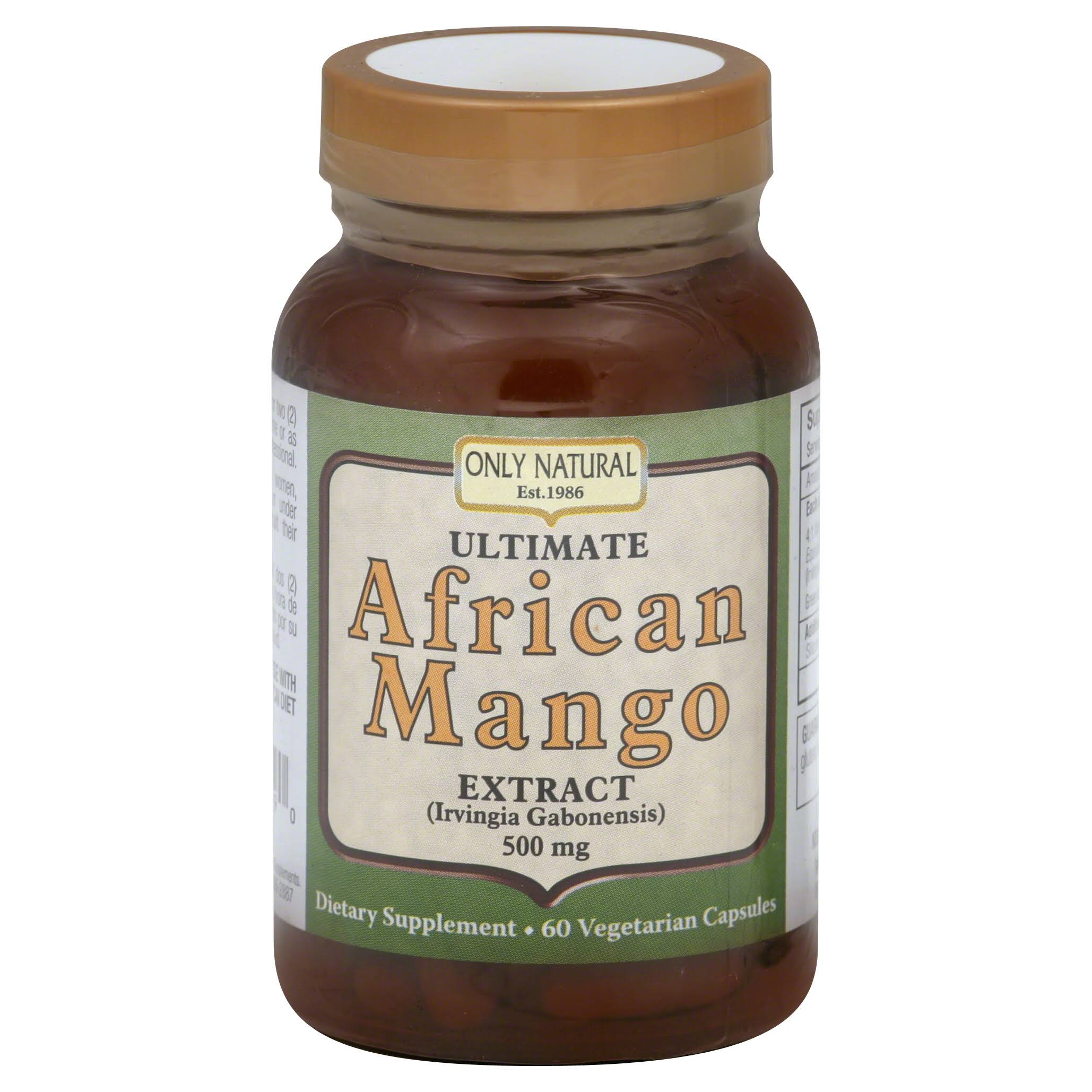Only Natural African Mango Extract Ultimate - 500mg, 60ct
