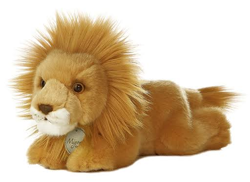 Aurora Animal Plush Stuffed Toy - Miyoni Lion, 8""
