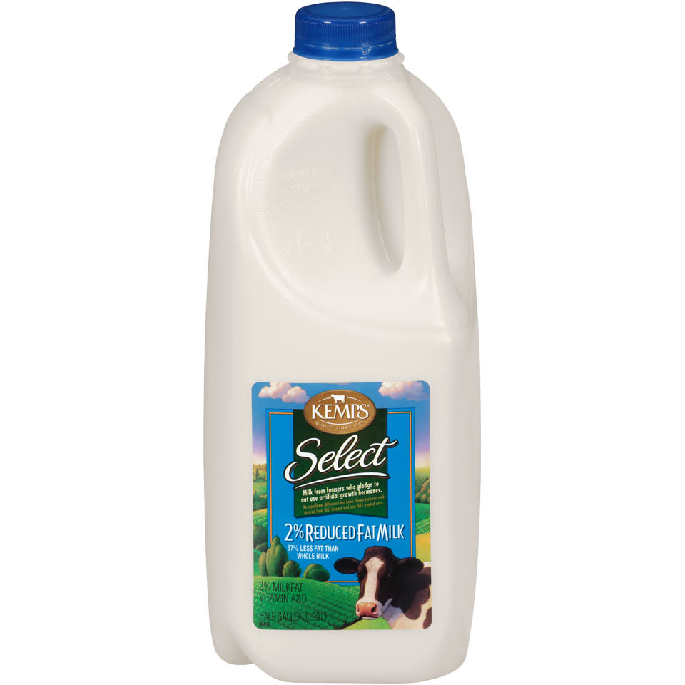 Kemps Select 2 Percent Reduced Fat Milk - 0.5gal