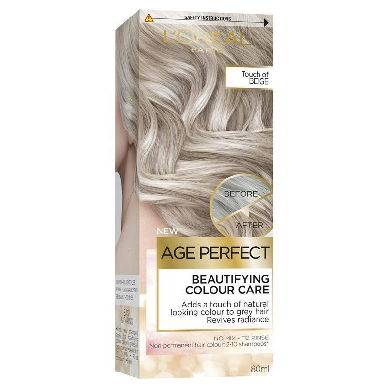 L'Oreal Age Perfect Colour Care Grey Hair Toner - Touch of Beige