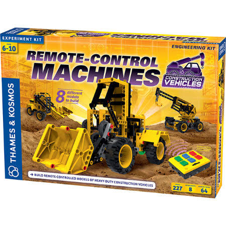 Thames & Kosmos Remote-Control Machines Construction Vehicles - 227 Pieces