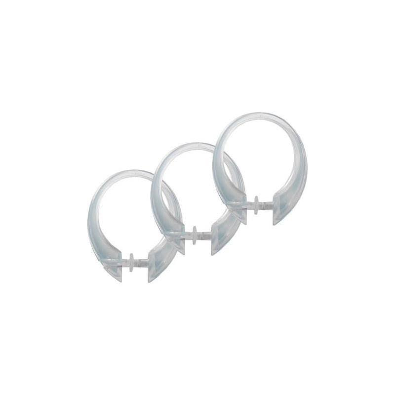 Excell Deluxe Button-Up Shower Curtain Rings - Clear, 12ct