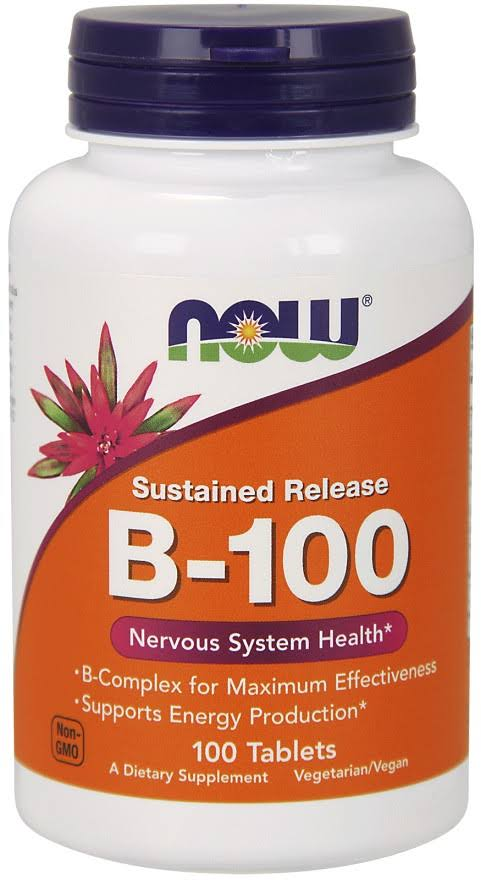 NOW Foods B-100 Sustained Release Supplement - 100ct