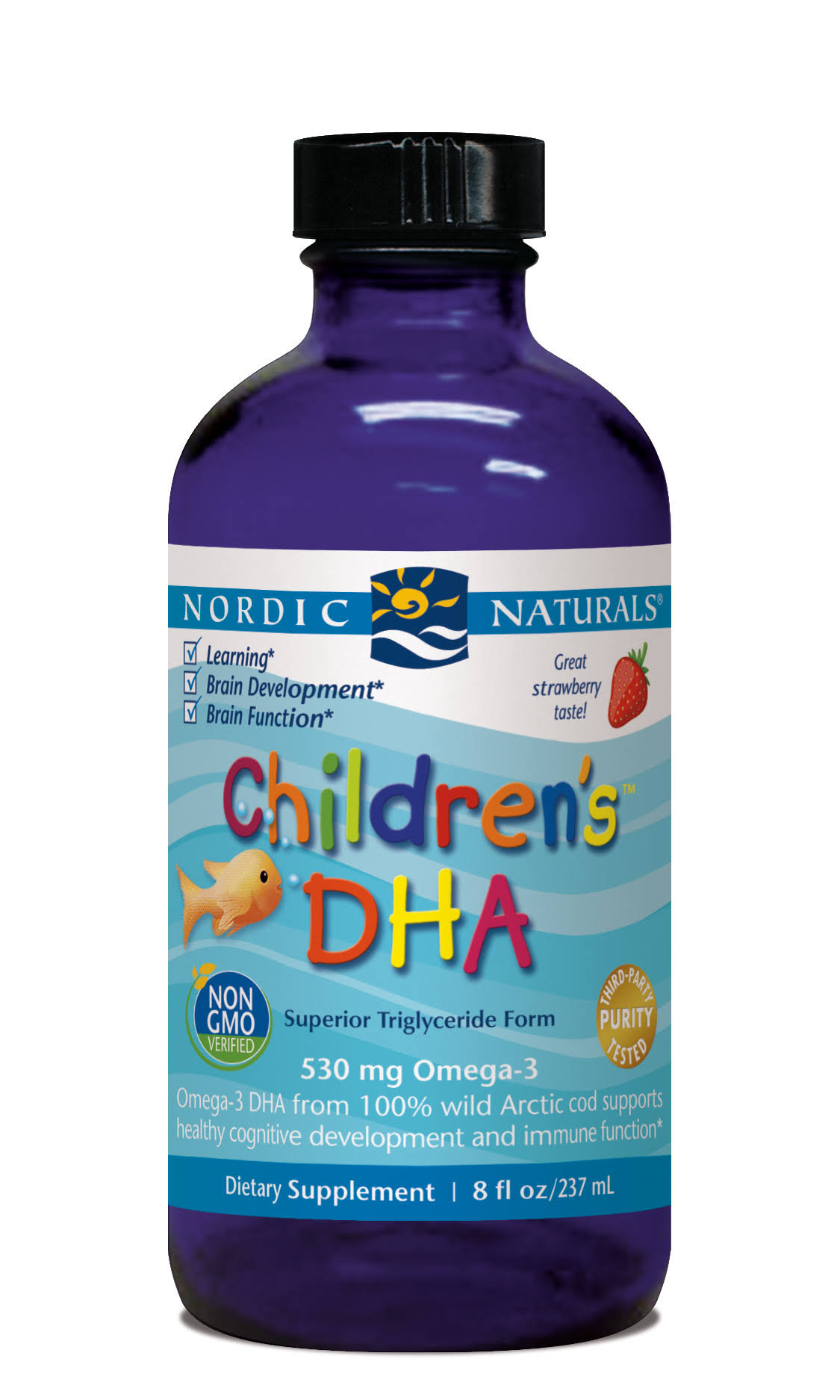 Nordic Naturals Children's DHA Liquid - Strawberry, 8 Oz
