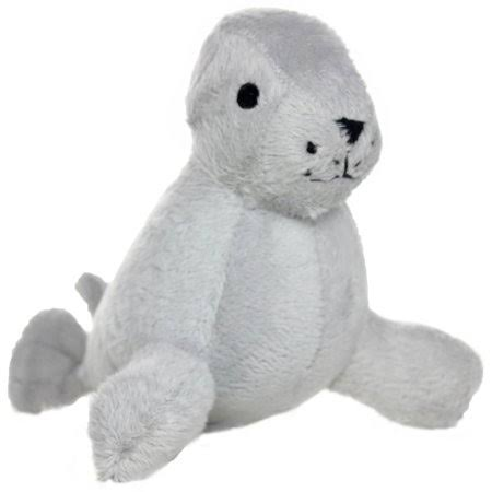 VIP Products Mighty Sandy Seal Jr. Arctic Dog Toy - Gray