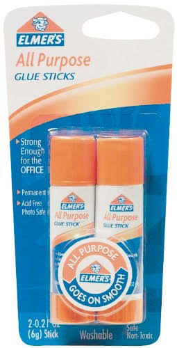 Elmer's All-Purpose Glue Sticks - Washable, 2x6g