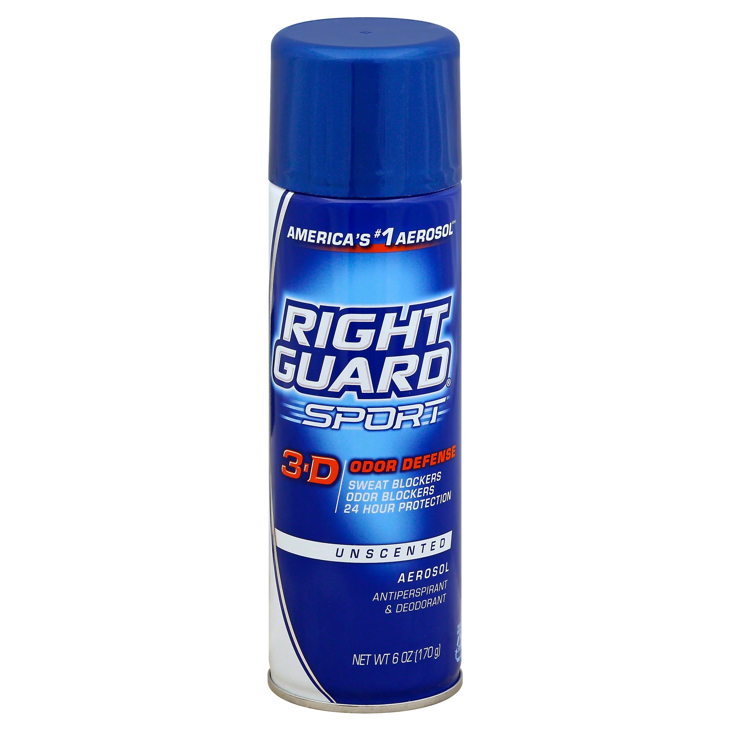 Right Guard Sport Antiperspirant and Deodorant Aerosol - Unscented, 6oz