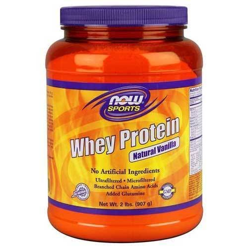 Now Sports Whey Protein - Natural Vanilla, 907g