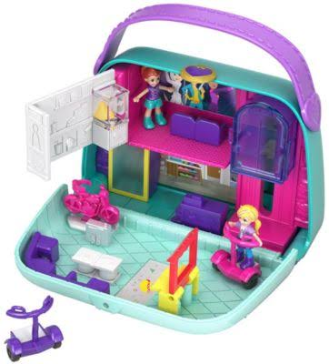 Polly Pocket World Shopping Mall Compact Playset
