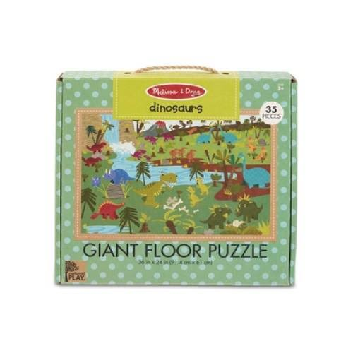 Melissa & Doug Natural Play Giant Floor Puzzle - Dinosaurs